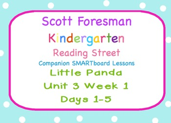 Kindergarten Reading Street SMARTboard Companion Unit 3 We