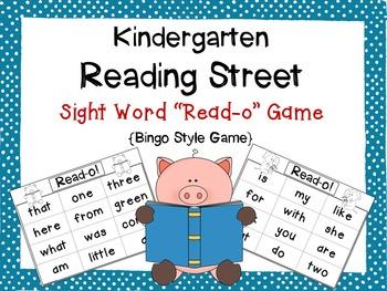 Reading Street Kindergarten Sight Word Read-o Game