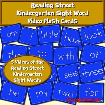 Kindergarten Reading Street Sight Word Video Flash Cards
