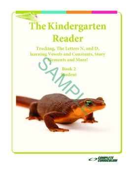 Kindergarten Reading - Tracking, Letters N, D, Vowels and