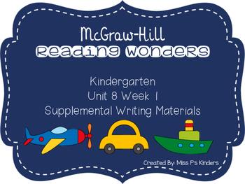 McGraw Hill Kindergarten Reading Wonders Unit 8 Week 1 Writing