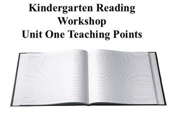 Kindergarten Reading Workshop Teaching Points