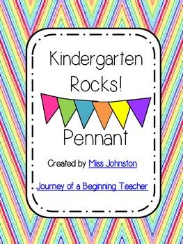 Kindergarten Rocks Pennant Banner