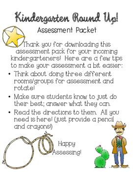 Kindergarten Round Up Assessment