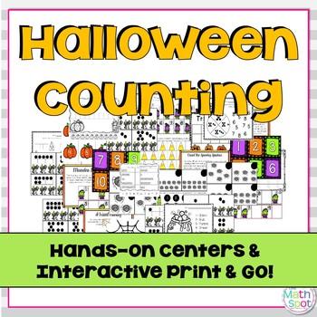 Kindergarten Halloween Number Math Centers