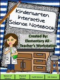 Kindergarten Science Interactive Notebook with Word Wall S