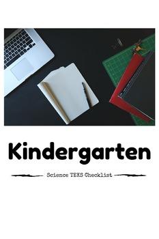 Kindergarten Science TEKS Checklist Freebie