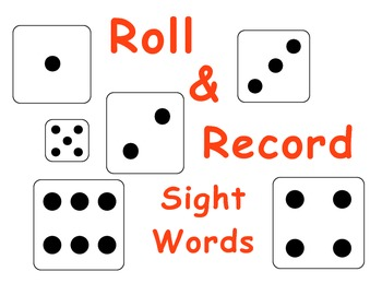 Kindergarten Roll & Record Sight Words