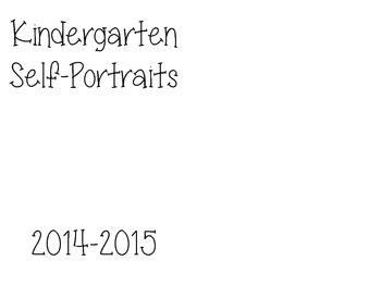Kindergarten Self-Portrait Book