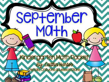 Kindergarten September Math Packet- Stations, Mini Lessons