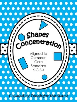 Kindergarten Shapes Concentration Game: K.G.B.4