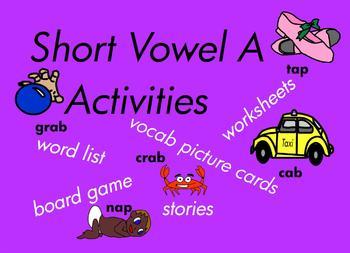 Kindergarten Short Vowel A Word Games, for Building Readin