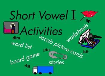 Kindergarten Short Vowel I Word Games, for Building Readin