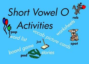 Kindergarten Short Vowel O Word Games, for Building Readin