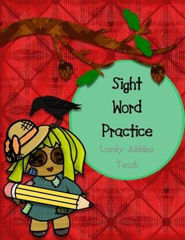 Kindergarten* Sight Word Actvities