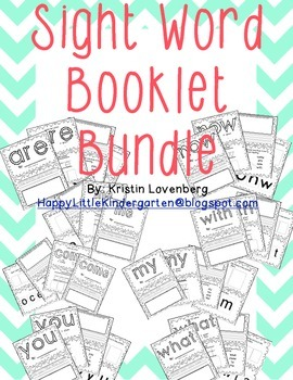 Kindergarten Sight Word Booklet Bundle