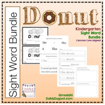 Kindergarten Sight Word Bundle - Donuts