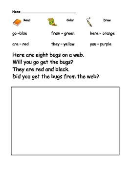 Kindergarten Sight Word Comprehension worksheets