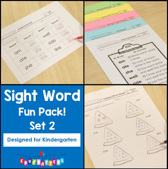 Kindergarten Sight Word Fun Pack: Set 2