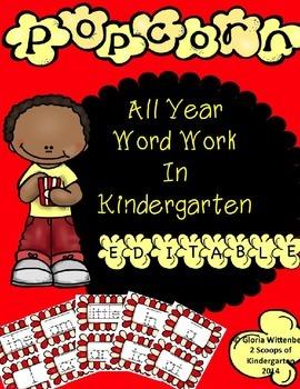 Kindergarten Sight Word Literacy Center(Editable)