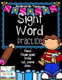Kindergarten Sight Word Practice, Read, Finger Spell, Writ