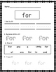 Kindergarten Sight Word Practice Sheet Freebies!