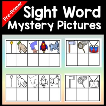 Sight Words Kindergarten with Mystery Pictures {40 Words!}