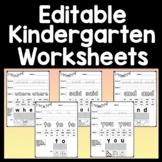 Sight Words Kindergarten and Kindergarten Sight Words {40