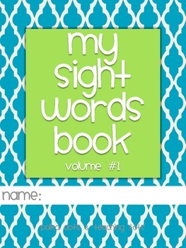 Kindergarten Sight Words Activity Book