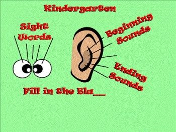 Kindergarten Sight Words, Beginning, and Ending Sounds Sma