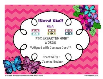 Kindergarten Sight Words-Chevron