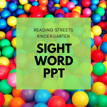Kindergarten Reading Streets Sight Words FREEBIE