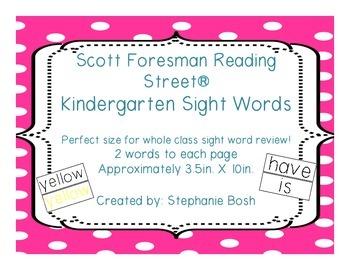 Kindergarten Sight Words - High Frequency Words - Scott Fo