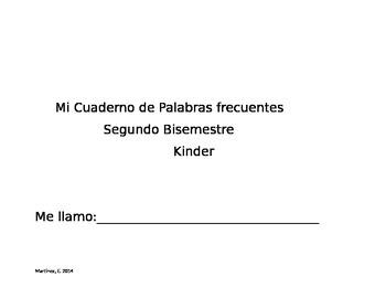 Kindergarten Sight Words Practice Book-Part 2