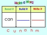 Kindergarten SmartBoard Sight Word Practice: Read it  Writ