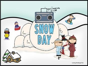 Kindergarten Snow Day - Math & Literacy Centers