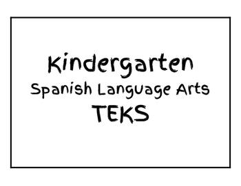 Kindergarten Spanish Language Arts TEKS