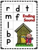 Kindergarten- Special Education-Ending Sound Lotto Game -