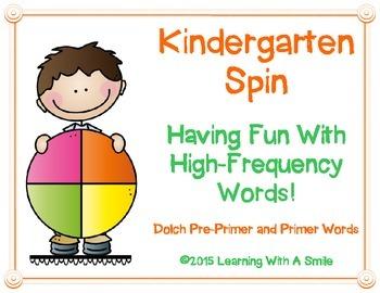 High-Frequency Word Game KINDERGARTEN Pre-Primer & Primer