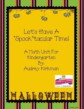 "Kindergarten ""Spook""tacular Math Unit"