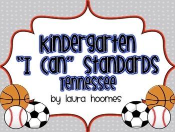 Kindergarten Sports Standards COMMON CORE Tennessee