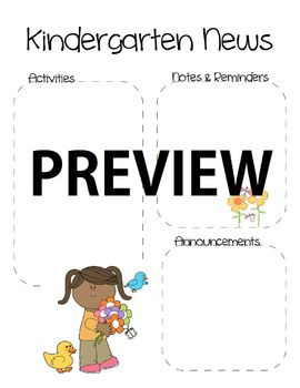Kindergarten Spring Newsletter Template
