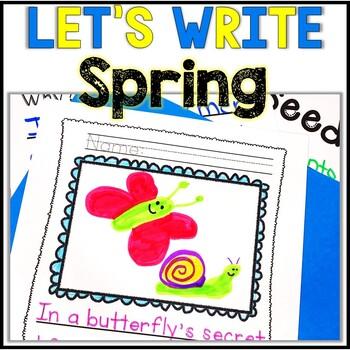 No Prep! Kindergarten Spring Writing - Journal - Writing W