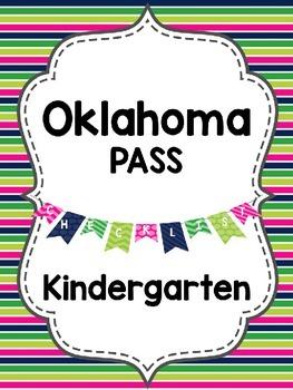 Editable Oklahoma PASS Standards {Kindergarten}