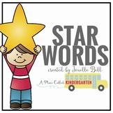 Kindergarten Star Words