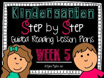 Kindergarten Step by Step Guided Reading Plans: Week 5