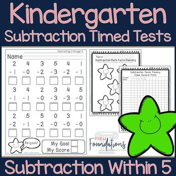Kindergarten Subtraction Timed Tests