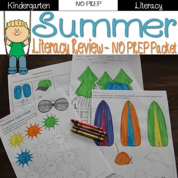 Summer Review: Kindergarten NO PREP (Literacy)