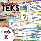 Kindergarten TEKS - Illustrated and Organized Objectives Cards