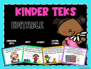 Kindergarten TEKS Posters-Bundled Objectives